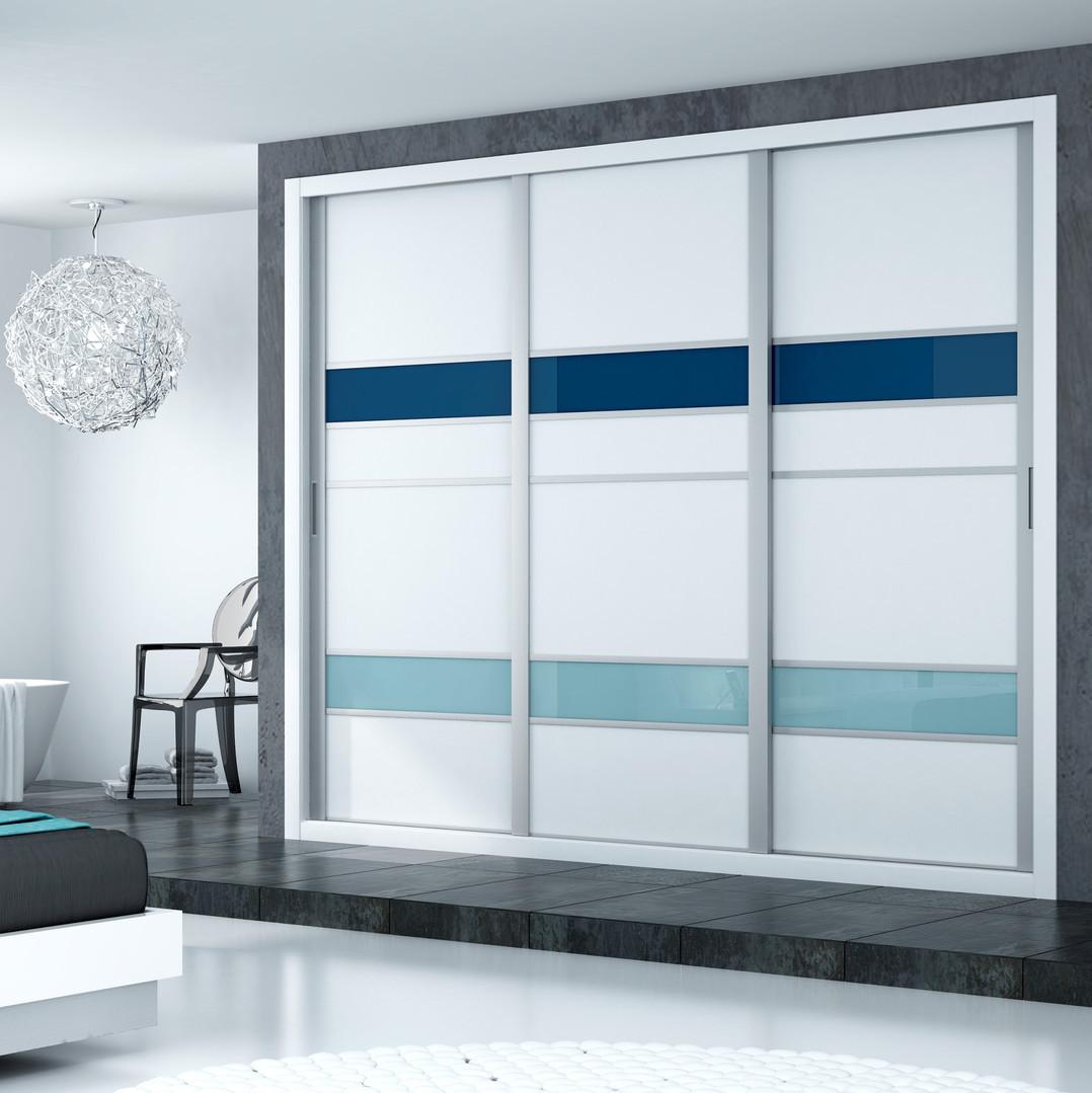 Frente de armario melamina blanca aluminio cristal lacado