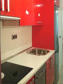 Muebles de cocina en rojo ferrari brillo
