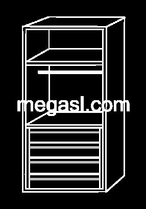 Modulo de interior de armario E
