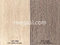 Melamina en albar arena y albar ceniza, nuevos acabados de superficie texturado mallado.