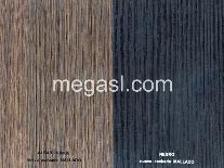Melamina en roble y negro, nuevos acabados de superficie mallado.