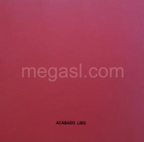Melamina en rojo, acabado de superficie LISO