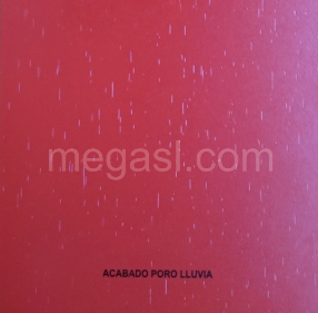 Melamina en rojo, acabado de superficie PORO LLUVIA