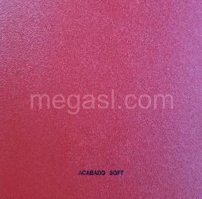 Melamina en rojo, acabado de superficie SOFT