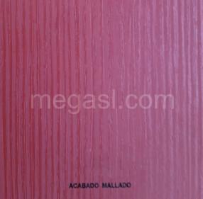 Melamina en rojo, acabado de superficie MALLADO