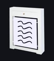 Cubreradiador a medida modelo olas lacado blanco.