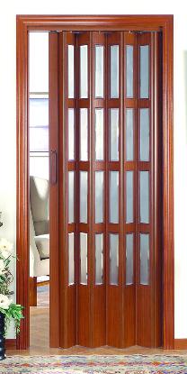 Puerta plegable vidriera