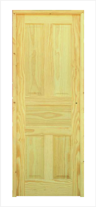 Puerta castellana en pino