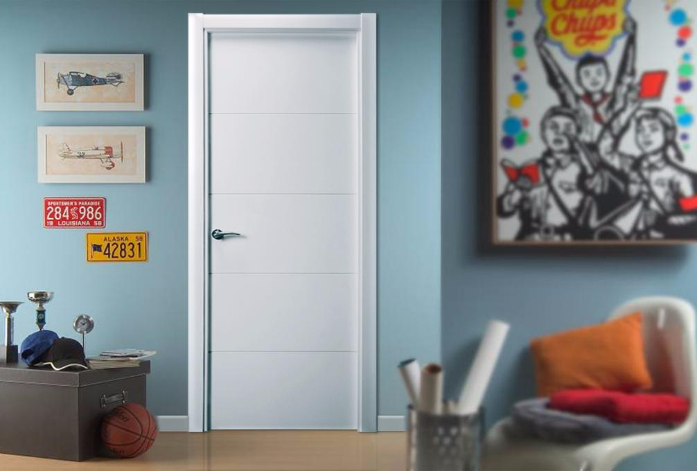 Puerta lacada en blanco modelo Mapi