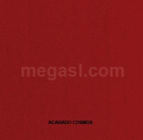 Melamina en rojo, acabado de superficie COSMOS