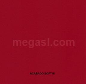 Melamina en rojo, acabado de superficie SOFT III