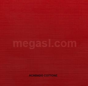 Melamina en rojo, acabado de superficie COTTONE