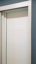 Armario de puertas correderas, lacado en blanco, modelo cuadros clasico, pantografiado