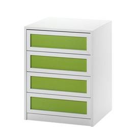 Detalle cajonera modelo atenas en blanco y verde