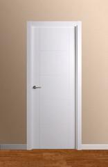 Puerta ciega lacada en blanco modelo 2.4
