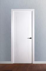 Puerta ciega lacada en blanco modelo 4.0