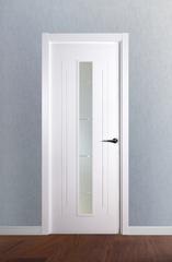 Puerta vidriera lacada en blanco modelo 4.0 V1