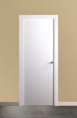 Puerta vidriera lacada en blanco modelo 1.2