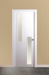 Puerta vidriera lacada en blanco modelo 1.2 V2 Visel