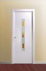 Puerta ciega lacada en blanco modelo Lac León V1