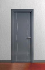 Puerta Ciega lacada en gris RAL 7011 modelo Lac Olas