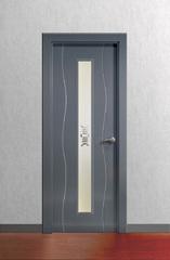 Puerta Vidriera lacada en gris RAL 7011 modelo Lac Olas V1