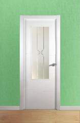 Puerta vidriera lacada en blanco modelo Lac Olas